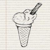 Illustration of an ice cream Royalty Free Stock Photos