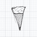 Illustration of an ice cream Stock Images