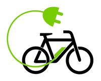 Illustration e bike charging station. Illustration icon e bike charging station stock illustration