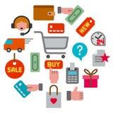 E-commerce shop icon stock photography