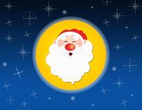 Illustration of an icon with Santa Claus Royalty Free Stock Photo