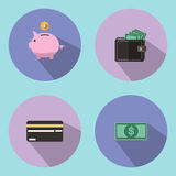 The illustration is an icon and a savings   symbol, such as a drop of a piggy bank. Can be   used for various media. The illustration is an icon and a savings Stock Photography