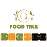 Food talk illustration Royalty Free Stock Photo