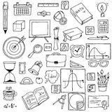 Illustration of icons on a mathematics theme.  Royalty Free Stock Photography