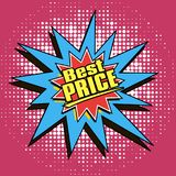 icons in pop art style on the theme of sale price Royalty Free Stock Images