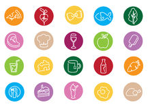 Illustration Of Icons Related To Food Stock Photography