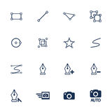 Illustration icons. Set of flat icons for illustration and photo interface Royalty Free Stock Images