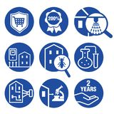 Icons set for Inspecting residential properties. Illustration of icons set for Inspecting residential properties Stock Photography