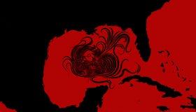 Illustration idea for Hurricane Michael heading towards North Florida, United States. stock photo