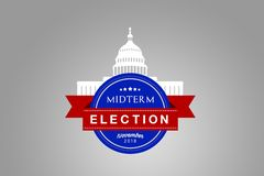 Illustration idea for the November 2018 US Midterm Election. stock photos
