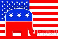 Illustration idea for Republican vote for US Midterm Elections 2018. vector illustration