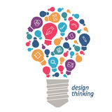 Illustration  ideas in the field of design. Stock Photography
