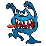 Illustration idiote de vecteur de bande dessinée de créature de monstre Photos stock