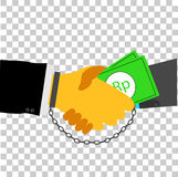 Illustration illegal business agreement Royalty Free Stock Images