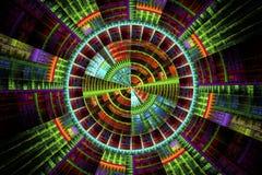 Illustration : image de fractale d'une unité de disques Photo stock