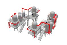 An illustration image of a process industrial plant royalty free stock photo