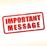 Important message text buffered royalty free illustration
