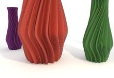 Illustration imprimée du vase 3d à objet d'isolement Image libre de droits