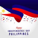 Illustration ind?pendante heureuse de conception de calibre de vecteur de jour de Philippines illustration stock