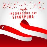 Illustration ind?pendante heureuse de conception de calibre de vecteur de jour de Singapour illustration de vecteur