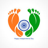 Illustration for independence day of india Stock Images