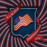 Illustration independence day shield poster Stock Photos