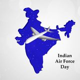 Illustration of Indian Airforce Day Background. Illustration of elements of Indian Airforce Day Background Stock Photos
