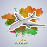 Illustration of Indian Airforce Day Background. Illustration of elements of Indian Airforce Day Background Royalty Free Stock Photo