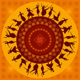Illustration of Indian classical dancer.  royalty free illustration