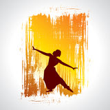Illustration of Indian classical dancer Stock Photo