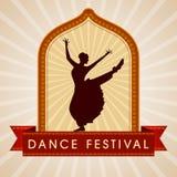 Illustration of Indian classical dancer. In dance festival royalty free illustration