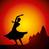 Illustration of Indian classical dancer Royalty Free Stock Images
