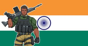 Indian Soldier Background stock images