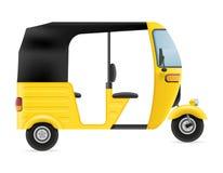 Illustration indienne de vecteur de transport de taxi de tuk-tuk de pousse-pousse de moteur images libres de droits