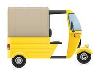 Illustration indienne de vecteur de transport de taxi de tuk-tuk de pousse-pousse de moteur photographie stock