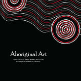 Illustration indigène d'art Bannière de vecteur avec le texte Photos stock