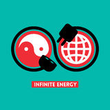 Illustration infinie de concept d'énergie Photo stock