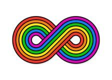 Illustration of infinity rainbow design Stock Photo