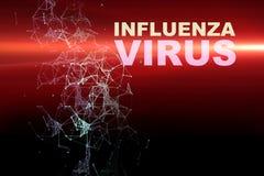 Illustration of Influenza Virus cells Royalty Free Stock Photography