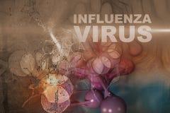 Illustration of Influenza Virus cells Stock Photo