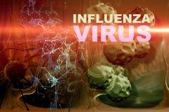Illustration of Influenza Virus cells Stock Photography