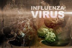Illustration of Influenza Virus cells Stock Images