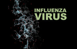 Illustration of Influenza Virus cells Stock Photos
