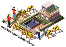 Illustration of info graphic architecture construction concept Stock Photo