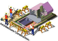 Illustration of info graphic architecture construction concept Stock Photography