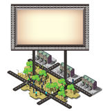 Illustration of info graphic billboard urban city concept Stock Photography