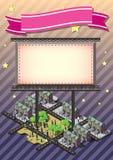 Illustration of info graphic billboard urban city concept Stock Photo