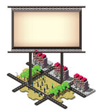 Illustration of info graphic billboard urban city concept Royalty Free Stock Images