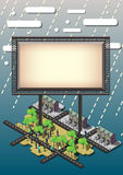 Illustration of info graphic billboard urban city concept Royalty Free Stock Photo