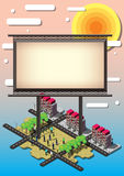 Illustration of info graphic billboard urban city concept Royalty Free Stock Photos